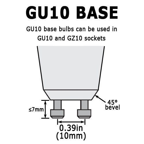 35W/GU10/120V 35-Watt MR16 Halogen Light Bulb, Glass Cover, Dimmable, 320 Lumens, GU10 Base