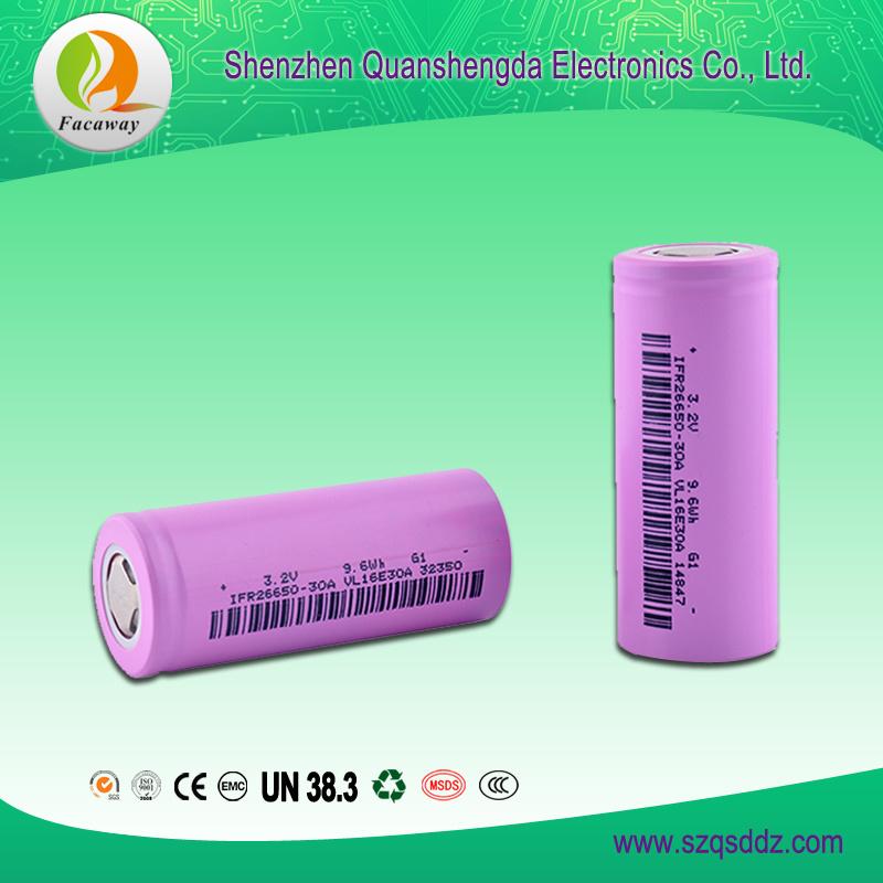 (QSD-3.2) 3.2V 3000mAh 26650 Lithium Battery