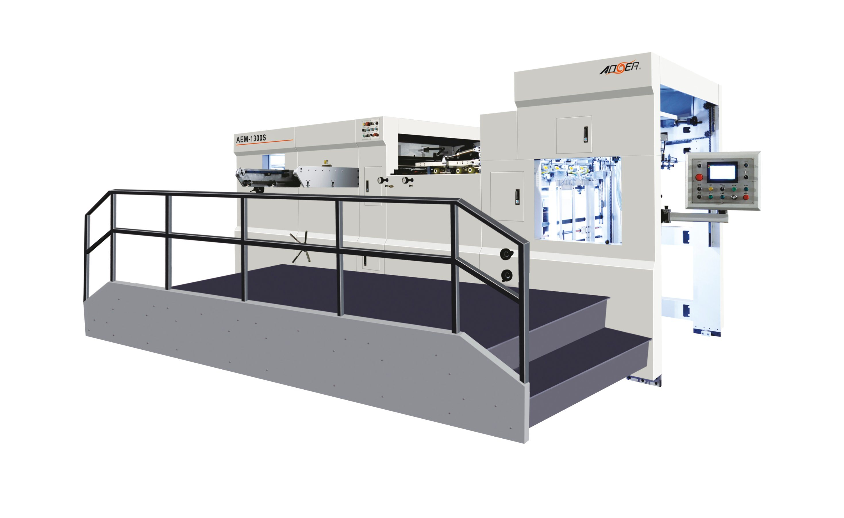 AEM-1300QS Manual Automatic Dual Purpose Die Cutting Machine with Stripping