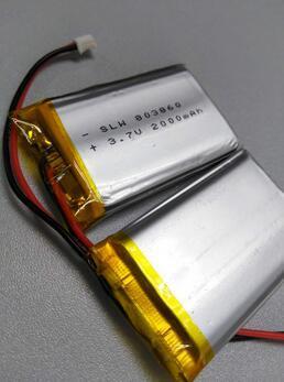 Factory Customized! ! 803860 Li-Polymer Battery 2000mAh 3.7V Rechargeable Lipo Battery