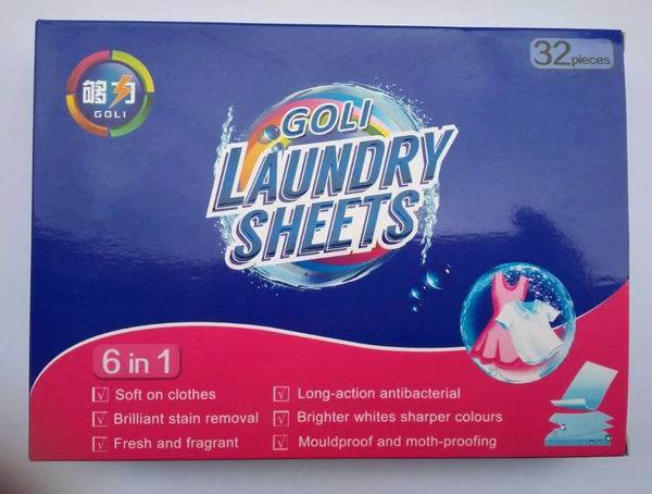 Eco-Friendly Non Woven Fabric Material Laundry Sheet (ordinary pack)