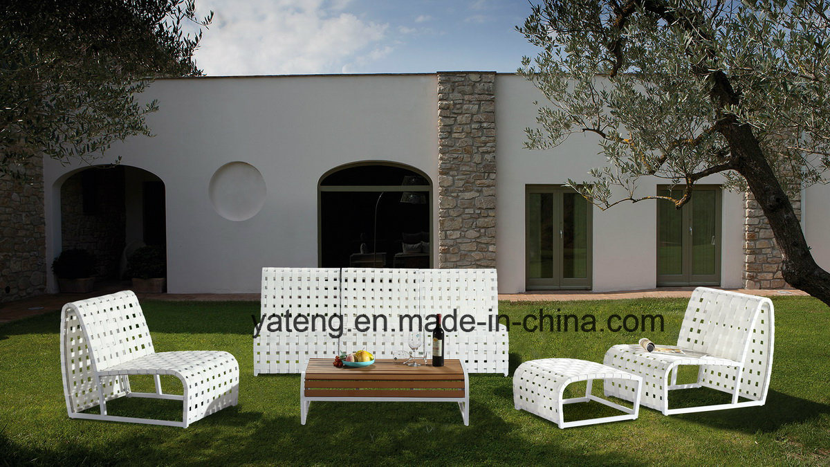Simple Design Euro Popular Outdoor Patio Sofa Set with Rope &Aluminum Frame (YT996)