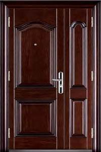 Luxury Double Steel Security Door with Peep Hole for Apartment