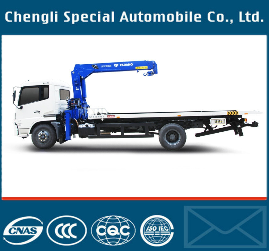 Dfl Series Chassis Wrecker Truck with 5ton Crane for Sale