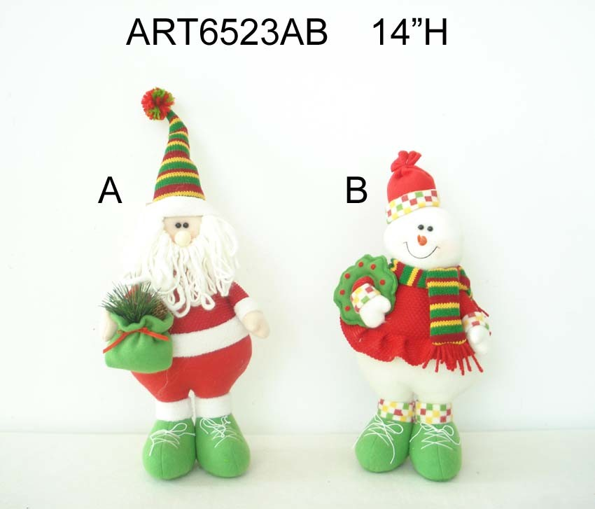 "6.5""H Plait Stocking with Letters-4asst-Christmas Decoration"