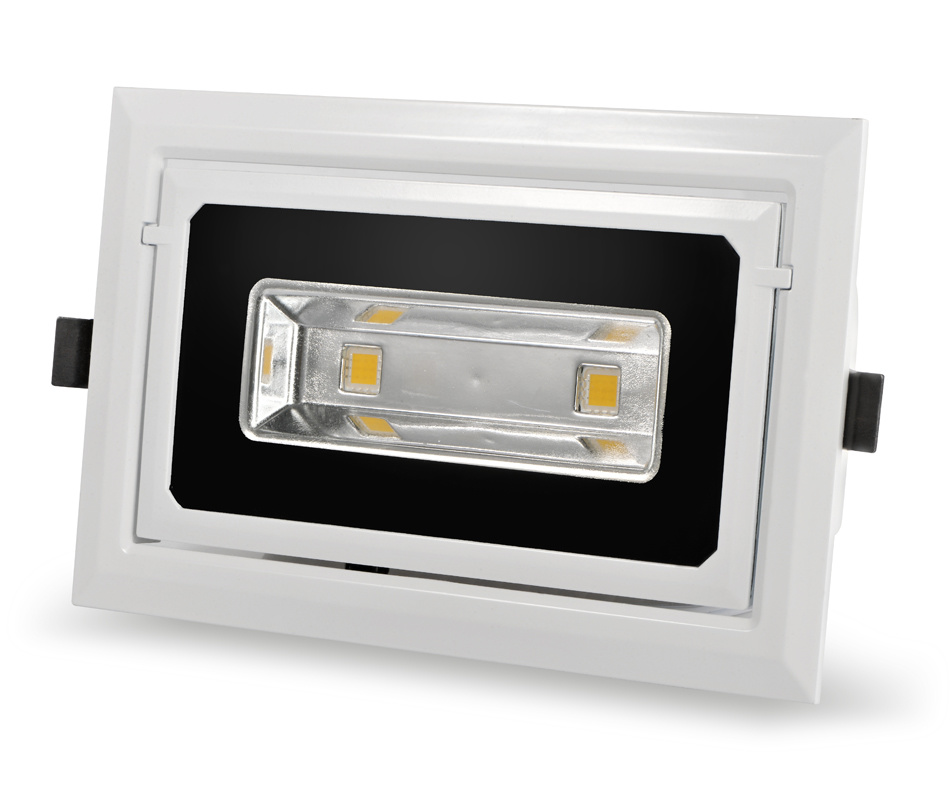 Die-Casting Aluminum Alloy COB Square Indoor LED Ceiling Light Fixture From China