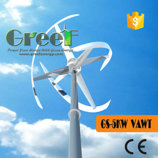 Darrieus Type Wind Turbine with Low Wind Speed