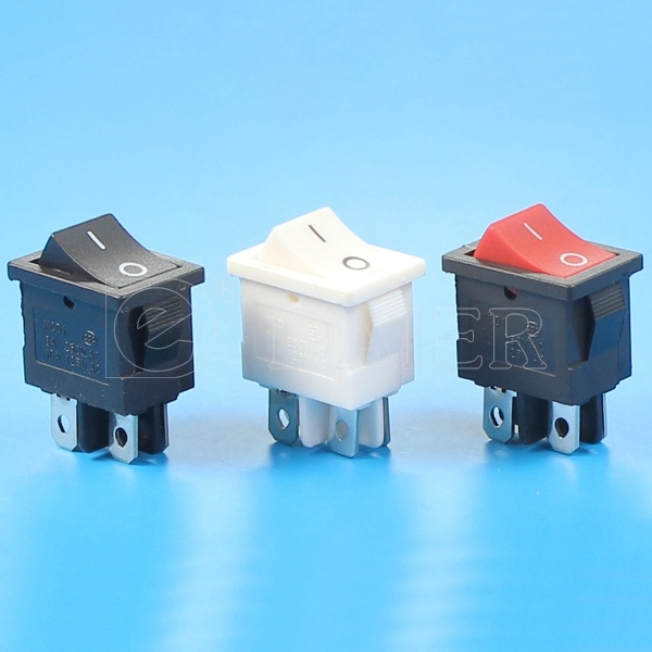 Miniature Black Rocker Switch 4 Pin on-off