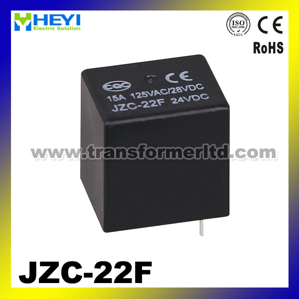 PCB Miniature Relay Jzc-22f Power Relay with 15A Contact Rating