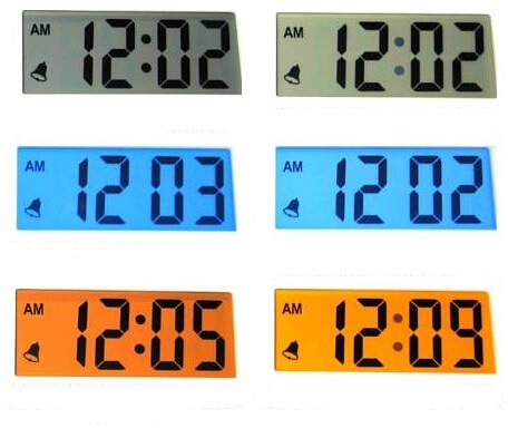 Yellow and Blue Background FSTN LCD Monitor for Time Indicator