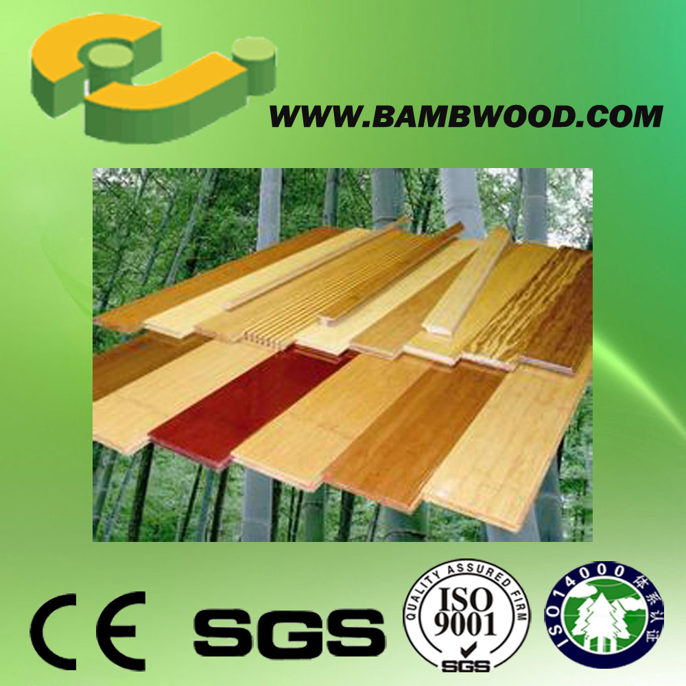 Cheap and Popular Click Strand Woven Bamboo Flooring