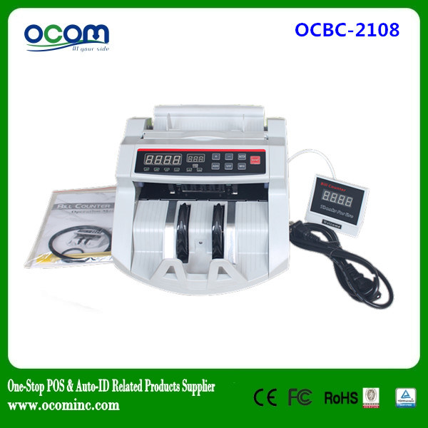 Ocbc-2108 Used UV Lamp Paper Money Detector Counter