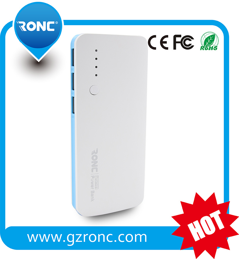 6000mAh Portable Mobile Charger Power Bank with 3 USB
