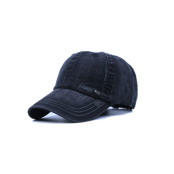 Design Your Distress Washed Black Baseball Caps