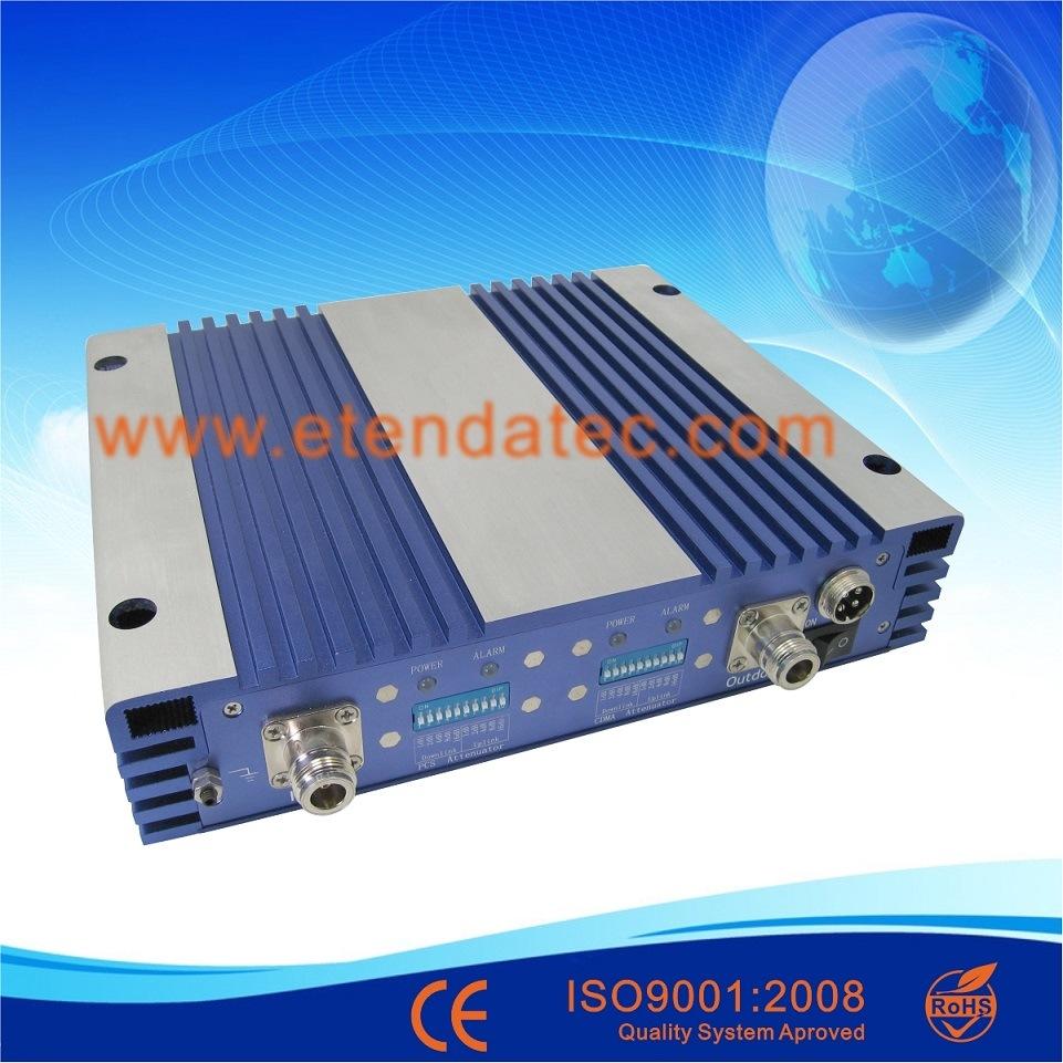 27dBm 80db Dual Band Signal Booster CDMA PCS Repeater