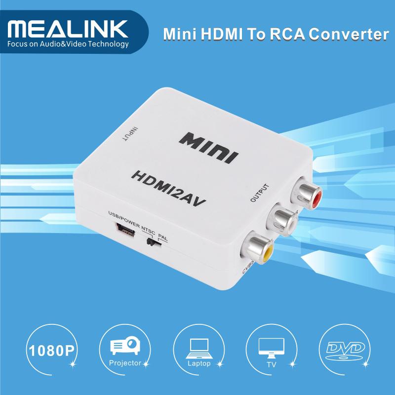 1080P HDMI to AV RCA Converter Adapter
