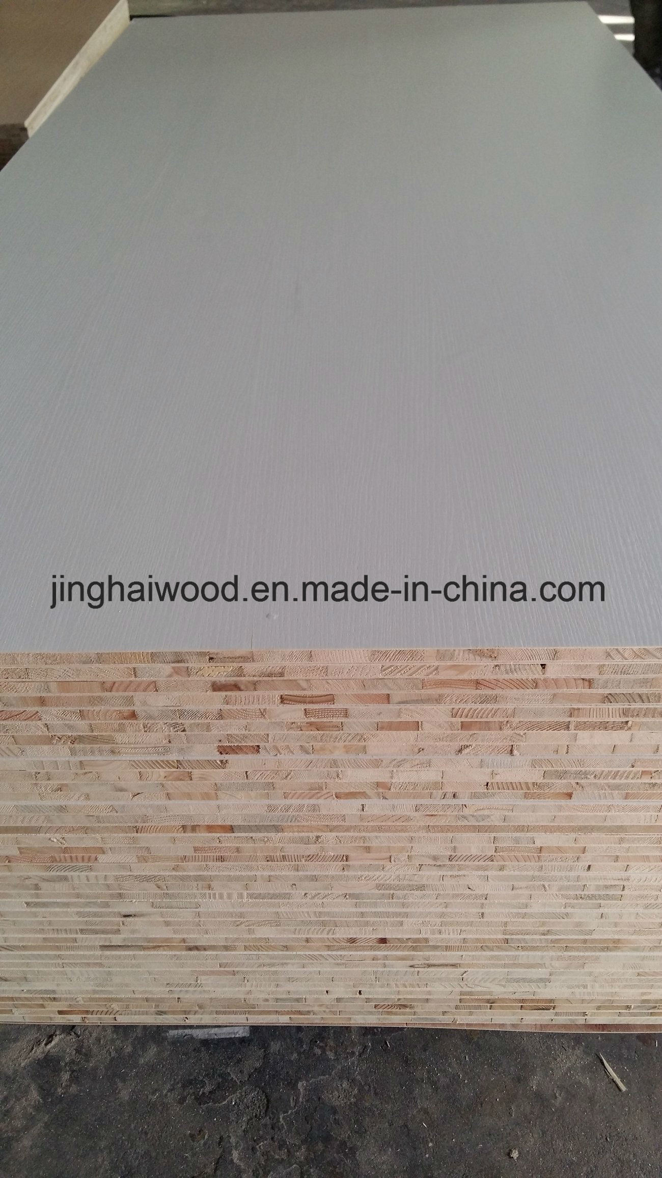 Pure White Color Melamine Blockboard in 16mm From Factory