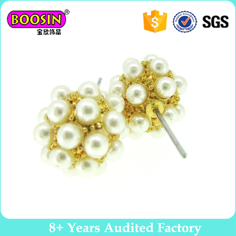 Boosin Round Shape Pretty Pearl Earrings for Girls