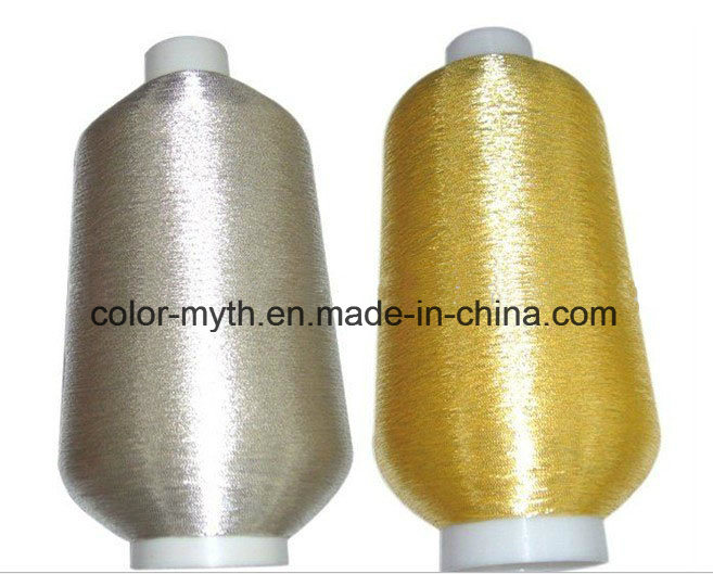 Pure Silver Pure Golden Embroidery Polyester Metallic Yarn