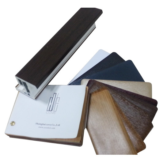 Weather Resitance Wooden Grain PVC Film for Windwo & Door Profiles