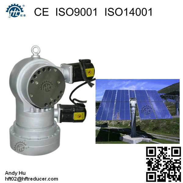 Hdr Dual Axis Solar Sun Tracker Gearbox Tracking System Using Gears for Power Generation Plant