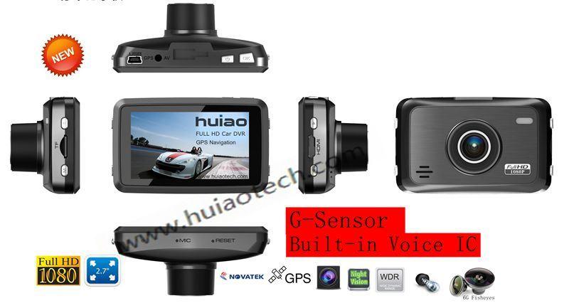 New Private Housing ID 2.7inch FHD 1080P Car Black Box DVR with Novatek 96650 and 5.0 Mega CMOS Car Dash Camera Built-in G-Sensor, Google Map GPS Tracking