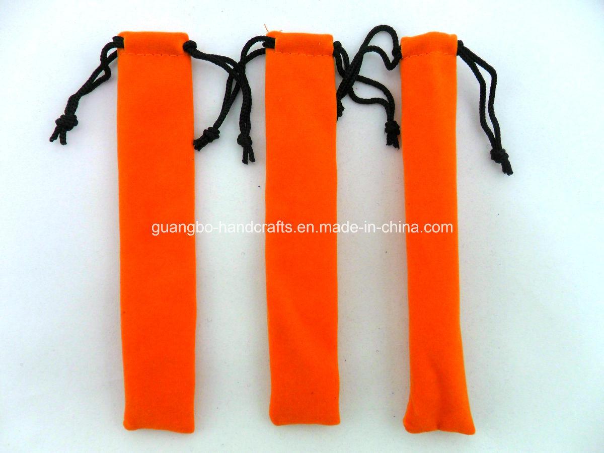 Customized High Quality Velvet Pen Pouch/Bag (QR-R46)