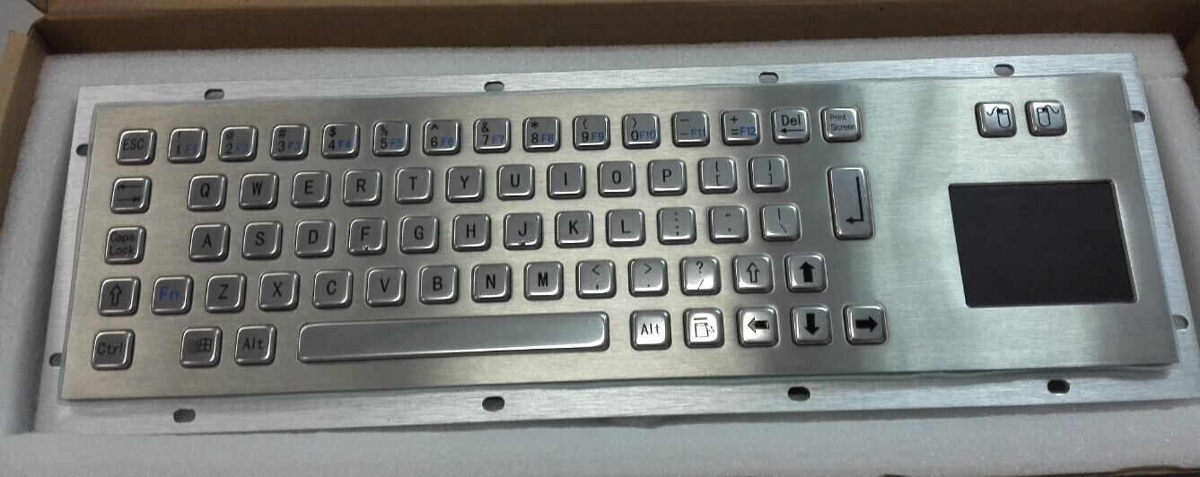 392*110mm Metal Computer Keyboard with Touchpad (KMY299G)