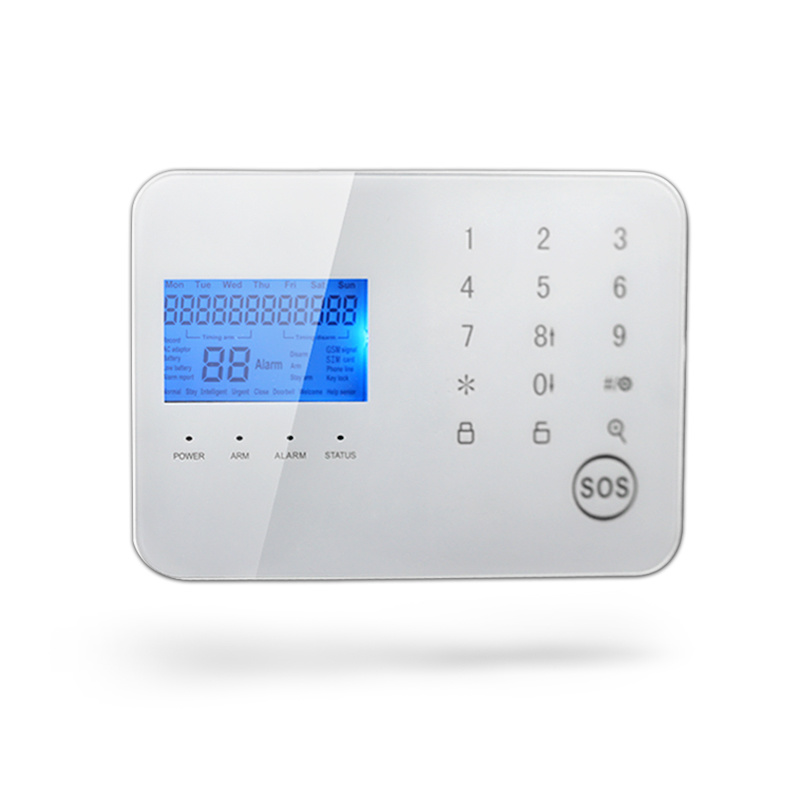 Multi Language Wireless Home GSM Alarm System with Big LCD Display (Support APP)