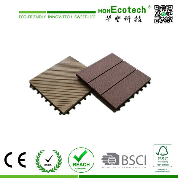 2015 Hot Sales Outdoor Plastic Wood Tile / WPC DIY Tiles