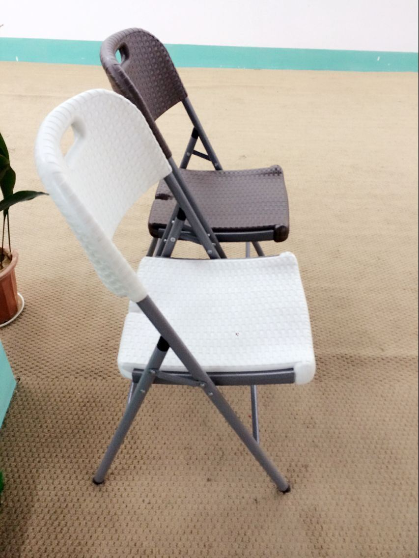 China Cheap Rattan Folding Chair, White Wicker Chair, HDPE Plastic Foldable  Chair With Rattan Design   China Plastic Chair, Folding Chair