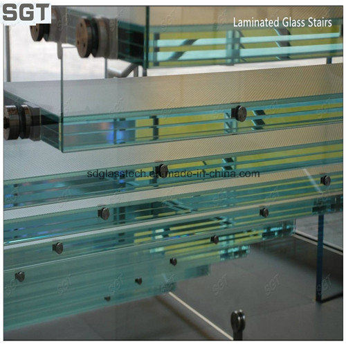6.38-20.38mm Toughened Sgp/PVB Laminated Stair Glass Safety Glass