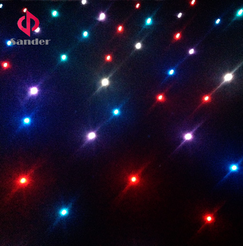 RGB 3 in 1 Colour Twinkling Starlit LED Star Cloth Curtain for Event Show