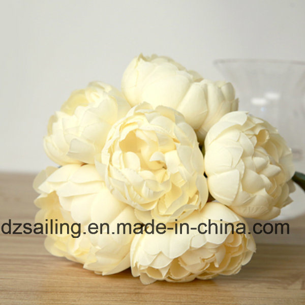 6 Heads Peony Bouquet Artificial Flower (SW12001)