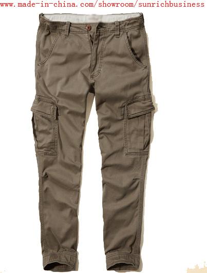 Men′s Cotton Twill (chinos) Cargo Jogger Washing Pants (p15001)