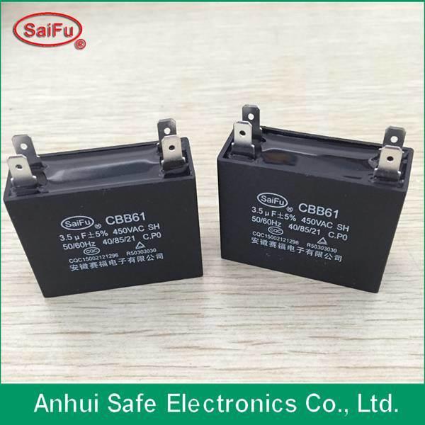 Metalized Polypropylene Film Water Pump Capacitor Cbb61 Capacitor