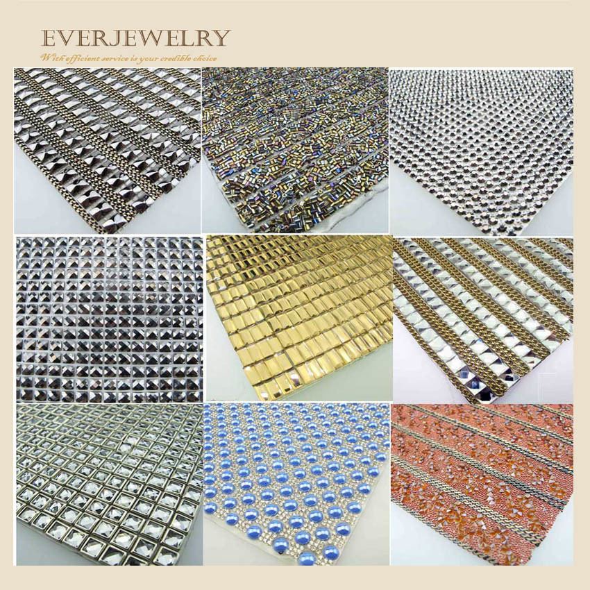 24*40cm Strass or Color Rhinestone Strass Mesh
