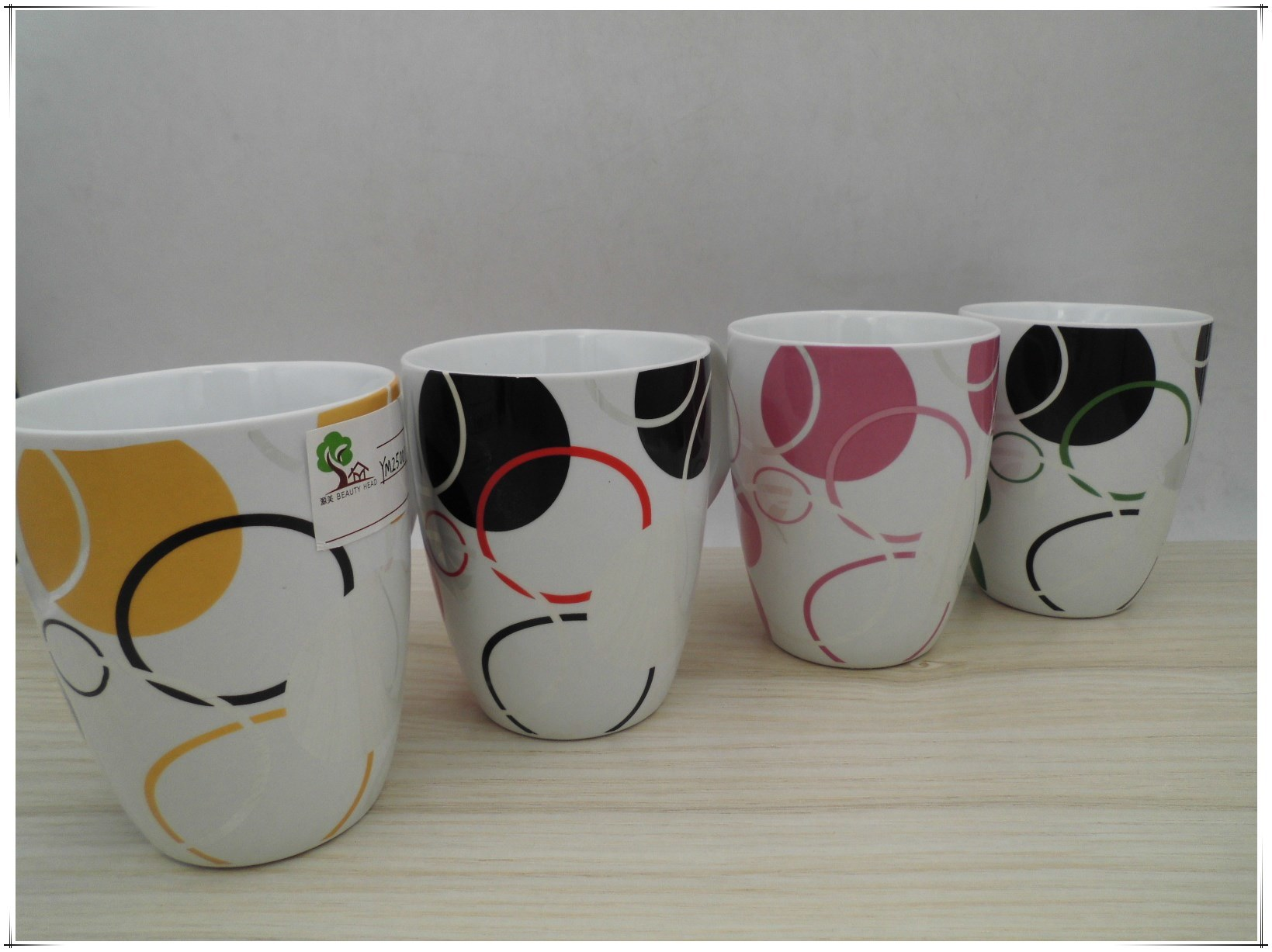 Simple Color Cylindrical Ceramic Cup