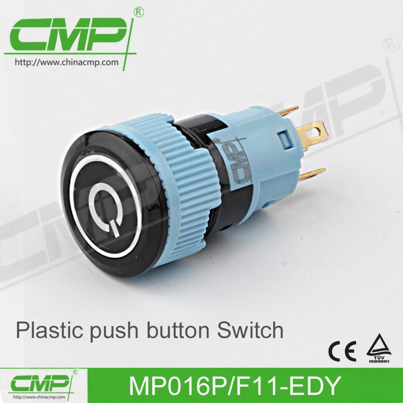 16mm Waterproof Plastic Push Button Switch (TUV CE)
