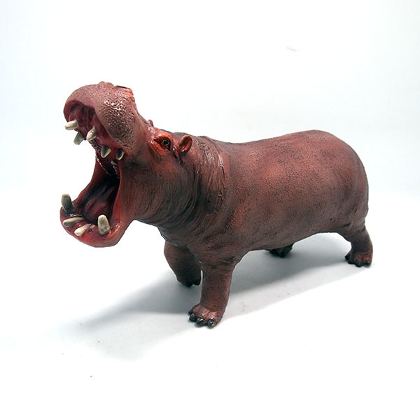 Promotional Custom Soft Plastic Hippo Vinyl Toy for Kids