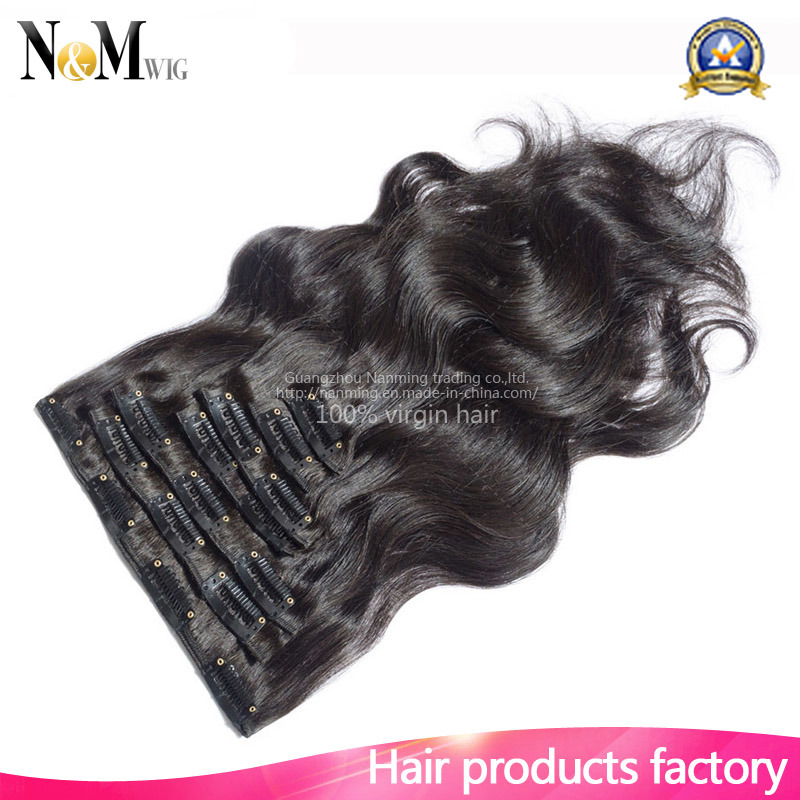 Wholesale Market Keratin Hair Extension / Brazilian Virgin Hairpiece (QB-CLI-BW)