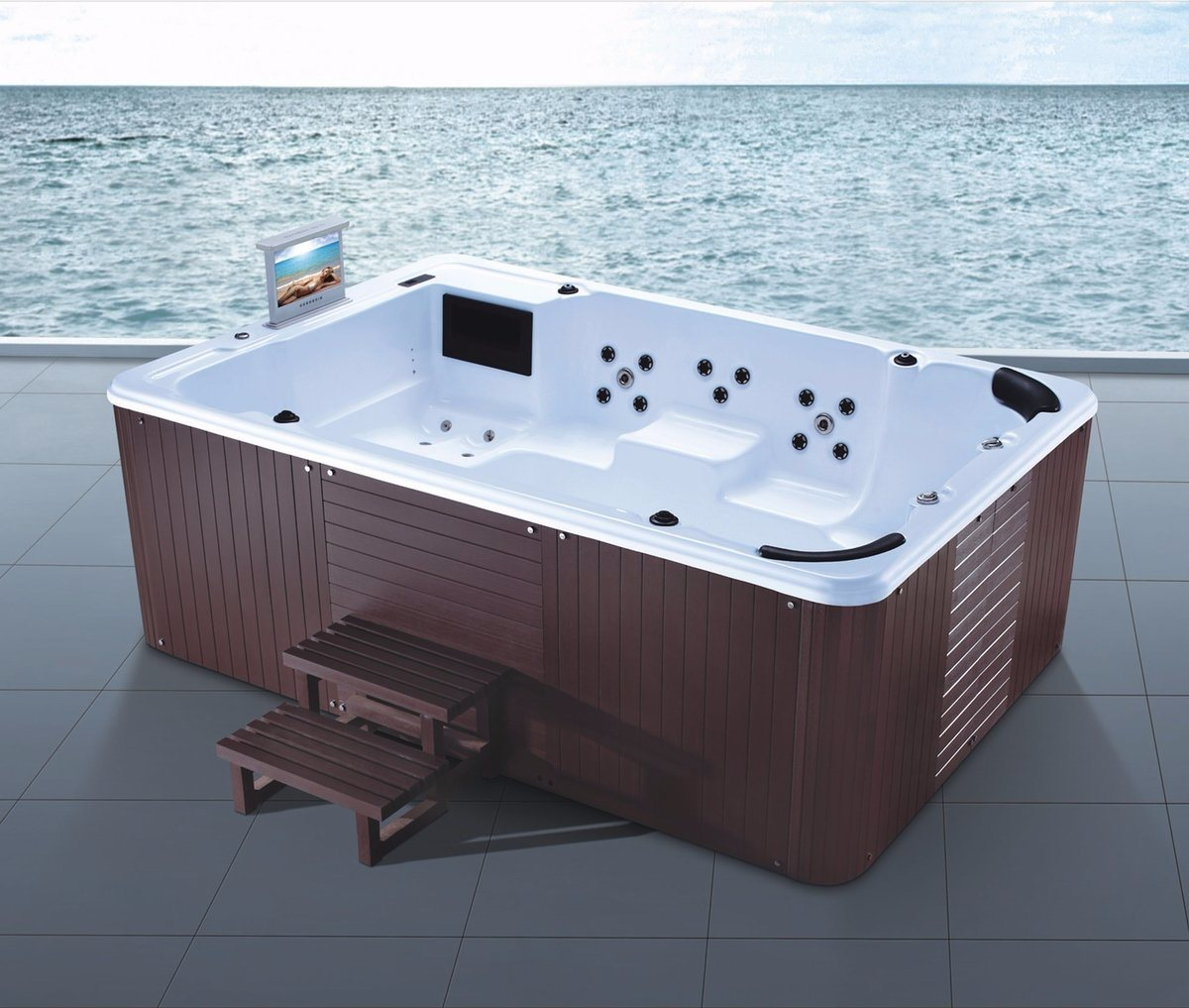 3080mm Free Standing Outdoor SPA for 9 Persons (AT-9314)