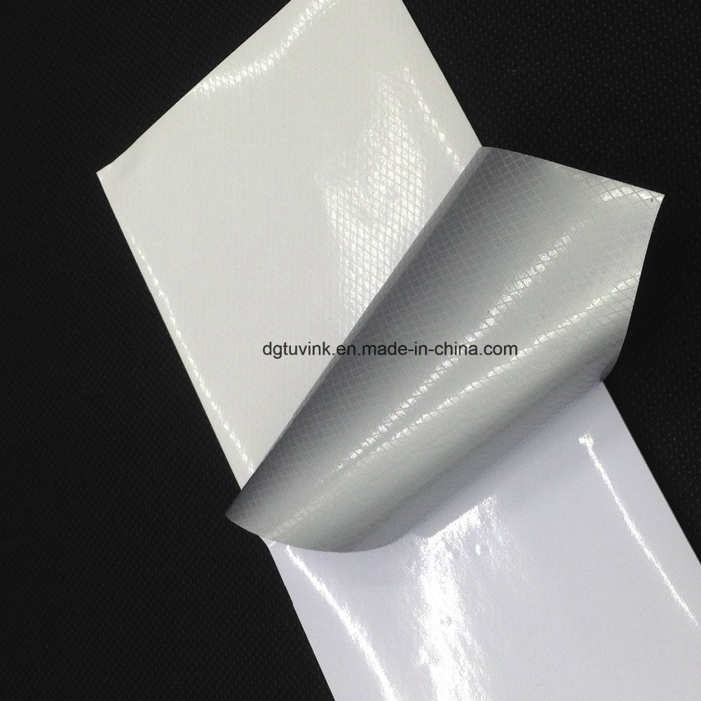 Custom White Glass Wall Window Vehicle Self Adhesive PVC Vinyl Sticker for Advertising Printing Material Label Paper Roll Outdoor Indoor