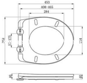Hot Sale Bathroom Round Shape Toilet Seat