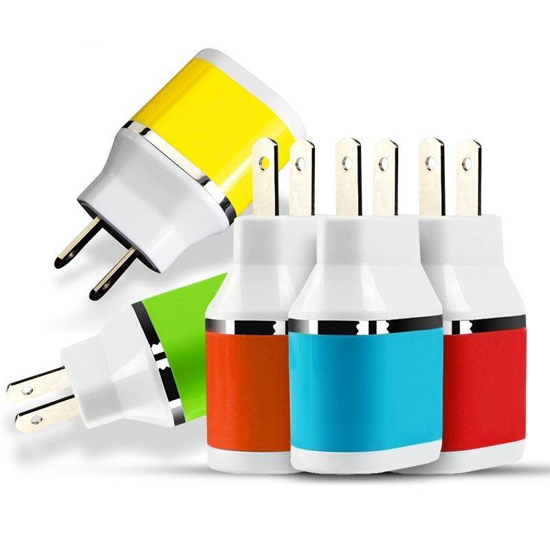 Wholesale Colorful Mobile Phone 2 USB Port DC Charger/Power Plug