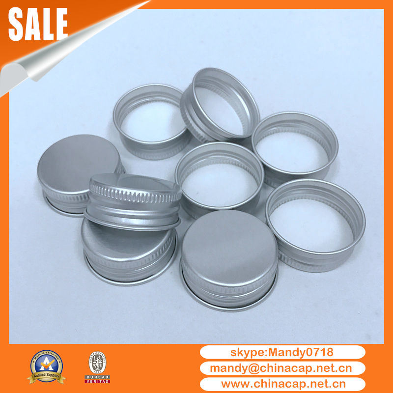 Honey Candy Jar Matte Silver Aluminum Screw Cap