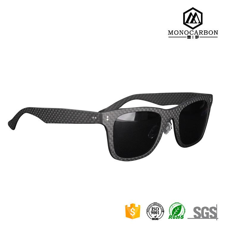 2016 Wholesale Christmas Fashion Gift Carbon Fiber Sunglasses Carbon Glasses Custom Logo