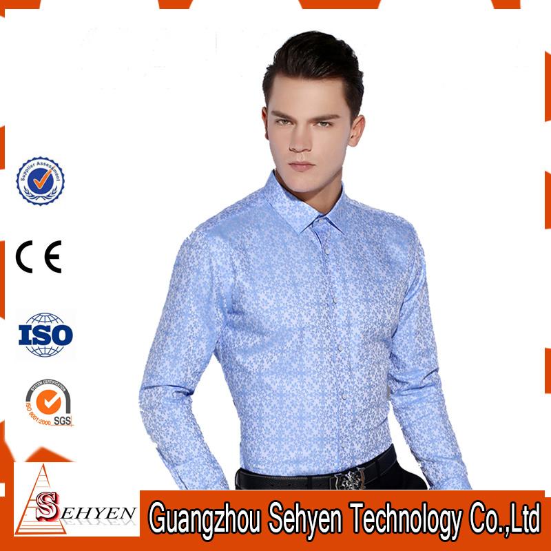 Slim Fit Formal Custom Mens Dress Shirts of Cotton