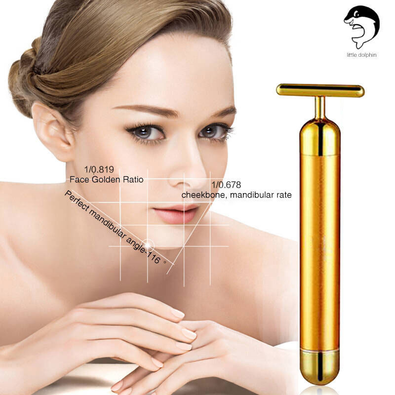 24k Gold Facial Beauty Bar Handy Massager for Skin Care