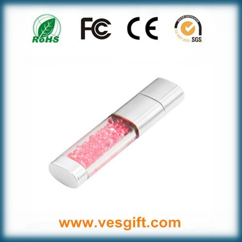 Full Capacity Crystal Glass Promotional Gift USB Stick